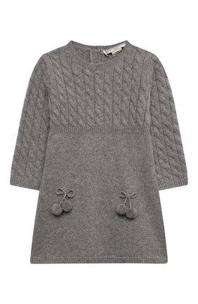 Женский кашемировое платье OSCAR ET VALENTINE серого цвета, арт. ROB05S | Фото 1