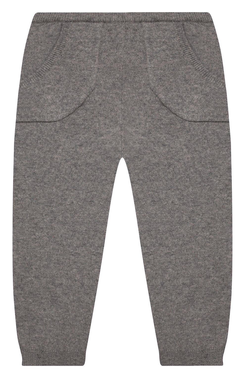 Детские кашемировые джоггеры OSCAR ET VALENTINE серого цвета, арт. LЕG01BS   Фото 1 (Материал внешний: Шерсть, Кашемир; Ростовка одежда: 12 мес   80 см, 18 мес   86 см, 2 года   92 см)
