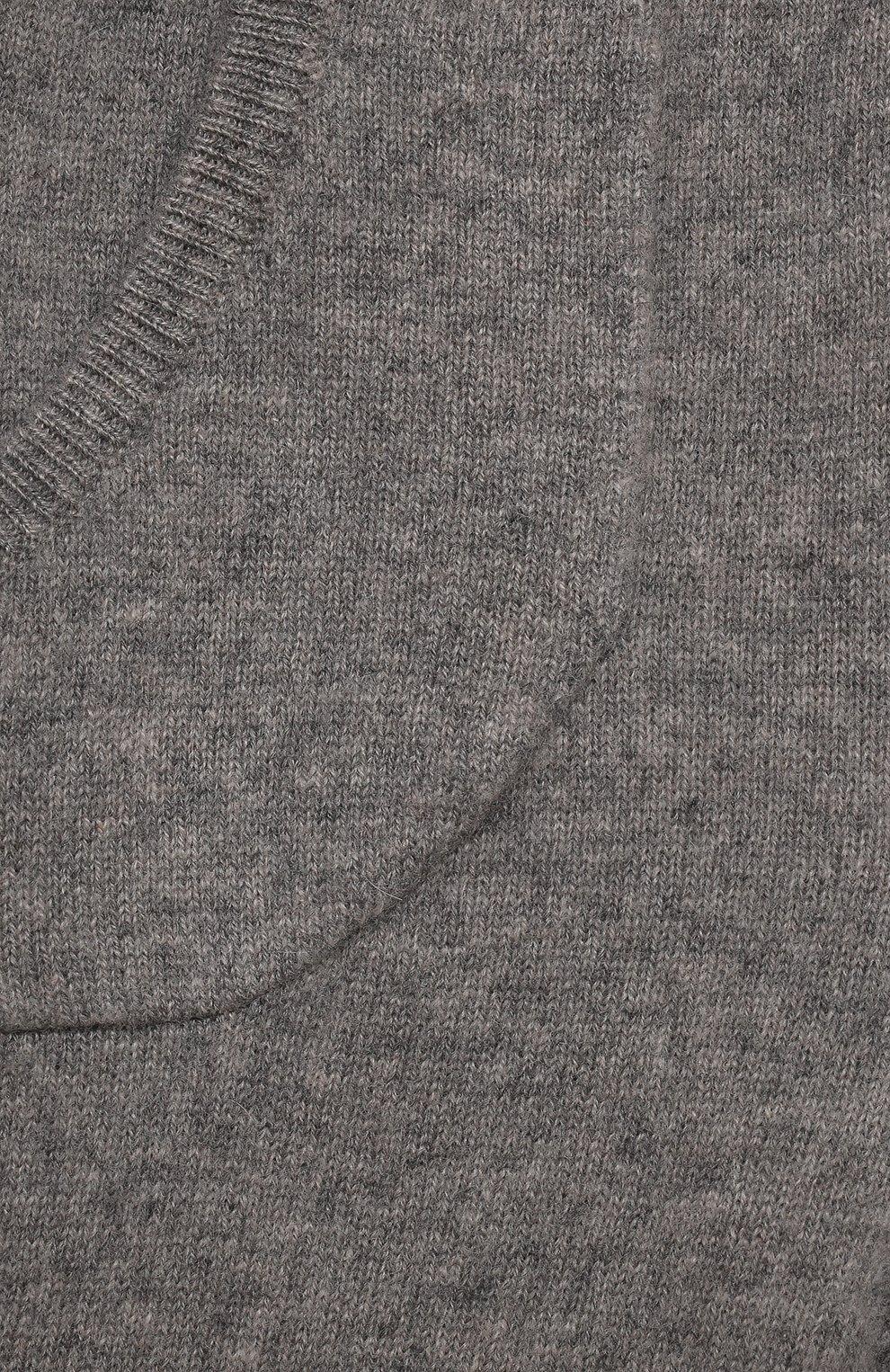 Детские кашемировые джоггеры OSCAR ET VALENTINE серого цвета, арт. LЕG01BS   Фото 3 (Материал внешний: Шерсть, Кашемир; Ростовка одежда: 12 мес   80 см, 18 мес   86 см, 2 года   92 см)