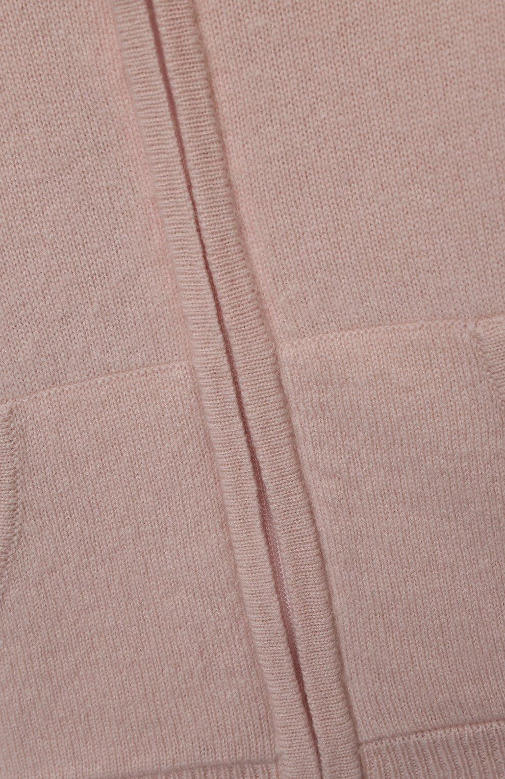 Детский кашемировая толстовка OSCAR ET VALENTINE розового цвета, арт. JOG01S   Фото 3