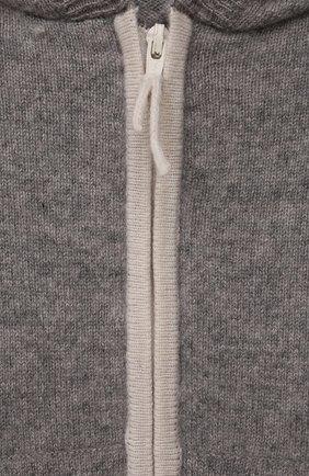 Детский кашемировая толстовка OSCAR ET VALENTINE серого цвета, арт. JOG01S   Фото 3