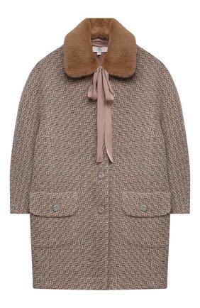 Детское пальто ZHANNA & ANNA бежевого цвета, арт. ZALR08092021_1 | Фото 1