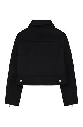 Детская куртка с косой молнией ZHANNA & ANNA черного цвета, арт. ZAB05022021 | Фото 2