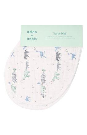Детский комплект из двух нагрудников ADEN+ANAIS голубого цвета, арт. ABBC20006 | Фото 1