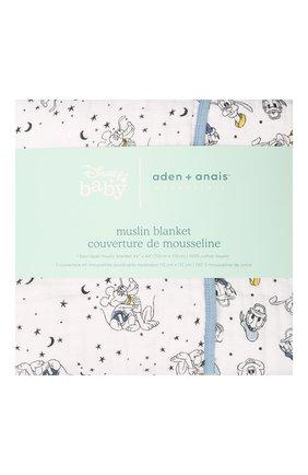 Детского хлопковое одеяло ADEN+ANAIS синего цвета, арт. EMBC10002DI | Фото 1