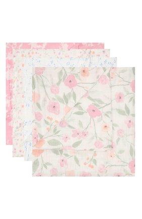 Детского комплект из четырех пеленок ADEN+ANAIS розового цвета, арт. ASWC40007 | Фото 1