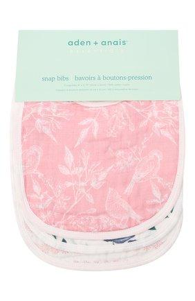 Детский комплект из трех нагрудников ADEN+ANAIS розового цвета, арт. ESNC30010 | Фото 1