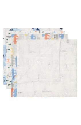 Детского комплект из четырех пеленок ADEN+ANAIS голубого цвета, арт. ESWC40009 | Фото 1