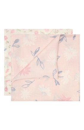 Детского комплект из двух пеленок ADEN+ANAIS розового цвета, арт. ESWS20001 | Фото 1