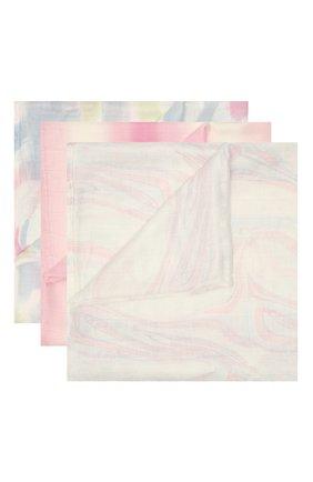 Детского комплект из трех пеленок ADEN+ANAIS розового цвета, арт. ASWS30004 | Фото 1