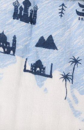 Детского хлопковое одеяло ADEN+ANAIS голубого цвета, арт. EMBC10007 | Фото 2
