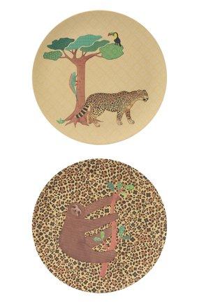 Детского набор посуды джунгли LOVE MAE разноцветного цвета, арт. P-MAE-YL006 | Фото 1