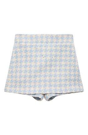 Детская юбка-шорты ZHANNA & ANNA голубого цвета, арт. ZALB10012021/1_1 | Фото 1