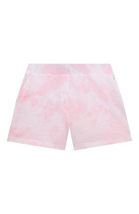 Детские хлопковые шорты JAKIOO розового цвета, арт. 497404 | Фото 1