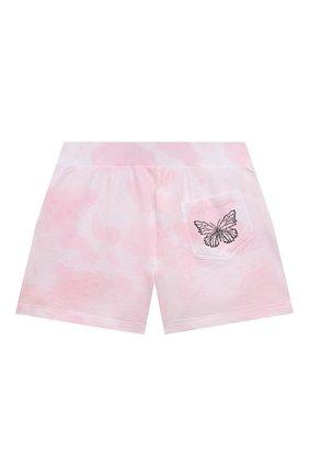 Детские хлопковые шорты JAKIOO розового цвета, арт. 497404 | Фото 2
