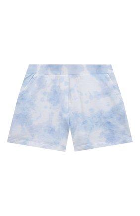 Детские хлопковые шорты JAKIOO голубого цвета, арт. 497404 | Фото 1