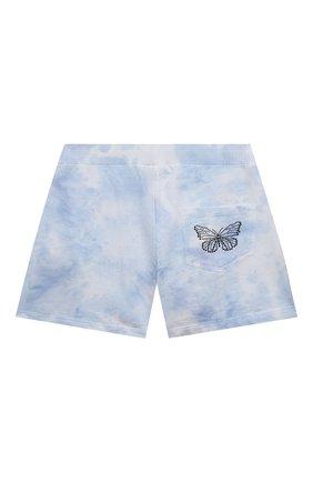 Детские хлопковые шорты JAKIOO голубого цвета, арт. 497404 | Фото 2
