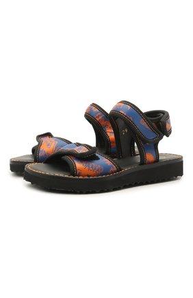 Детские кожаные сандалии GALLUCCI синего цвета, арт. J10105AT/SA P V G0M VL0 | Фото 1