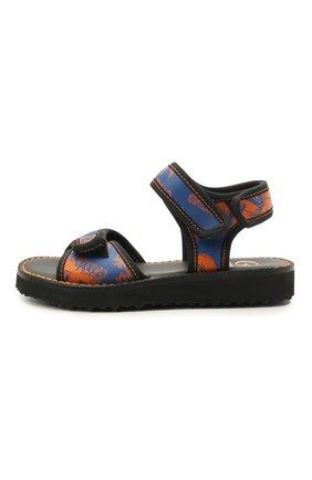 Детские кожаные сандалии GALLUCCI синего цвета, арт. J10105AT/SA P V G0M VL0 | Фото 2