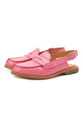 Детские кожаные лоферы GALLUCCI розового цвета, арт. J20074HM/SC P V CU0 PTT | Фото 1