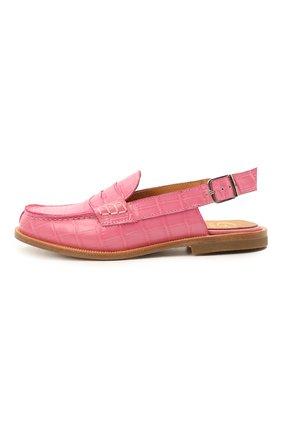 Детские кожаные лоферы GALLUCCI розового цвета, арт. J20074HM/SC P V CU0 PTT | Фото 2