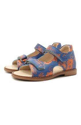 Детские кожаные сандалии GALLUCCI синего цвета, арт. T00434BM/SA P C 2794 VL0 | Фото 1