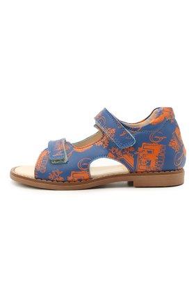 Детские кожаные сандалии GALLUCCI синего цвета, арт. T00434BM/SA P C 2794 VL0 | Фото 2