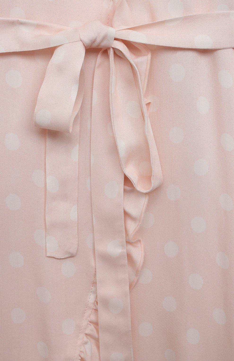 Детский халат AMIKI CHILDREN светло-розового цвета, арт. S0FIA | Фото 3