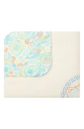 Детского хлопковое одеяло VERSACE голубого цвета, арт. 1000092/1A00239 | Фото 1