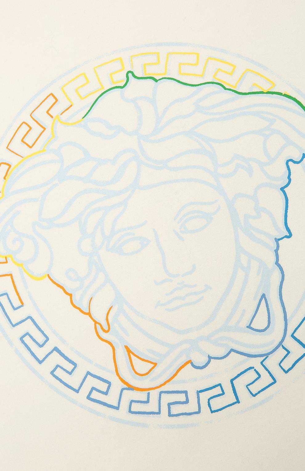 Детского хлопковое одеяло VERSACE голубого цвета, арт. 1000092/1A00239 | Фото 2