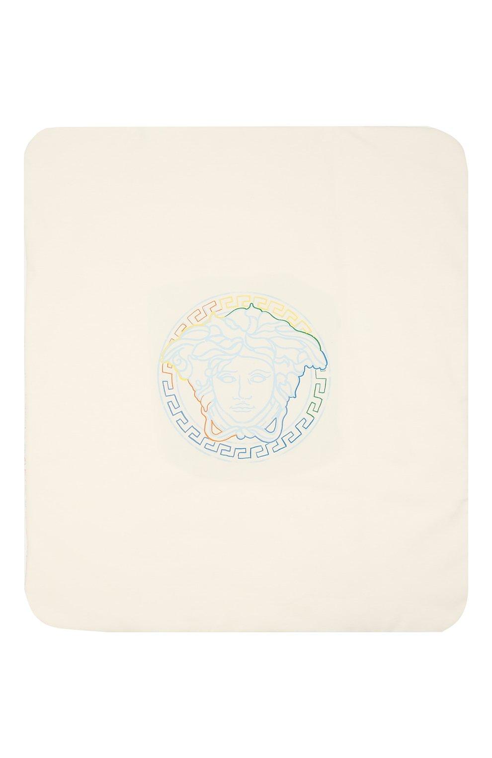 Детского хлопковое одеяло VERSACE голубого цвета, арт. 1000092/1A00239 | Фото 3