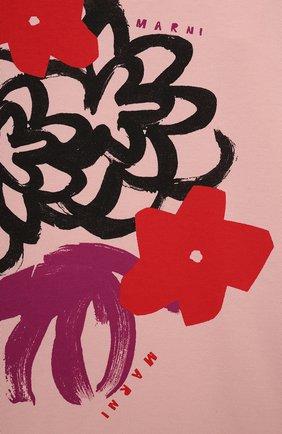 Детское хлопковое платье MARNI розового цвета, арт. M00103-M00J6 | Фото 3