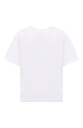 Детская хлопковая футболка MARNI белого цвета, арт. M00007-M00H7   Фото 2