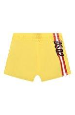 Детские плавки-шорты DSQUARED2 желтого цвета, арт. DQ0272-D00QK | Фото 1