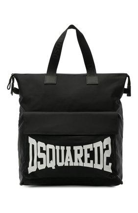 Детская сумка DSQUARED2 черного цвета, арт. DQ0137-D005T   Фото 1