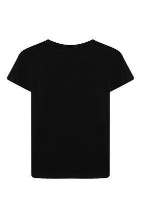 Детская хлопковая футболка CHIARA FERRAGNI черного цвета, арт. 21PE-CFKT032 | Фото 2