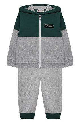 Детский комплект из толстовки с брюками MONCLER серого цвета, арт. G1-951-8M756-20-809AC | Фото 1