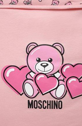 Детский хлопковый конверт MOSCHINO розового цвета, арт. MXE005/LAA03 | Фото 3