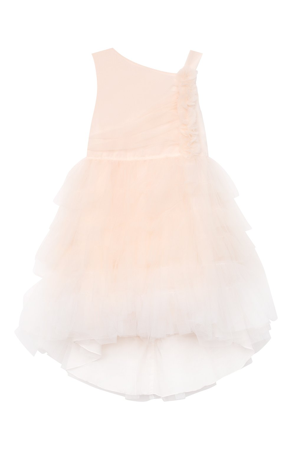 Детское хлопковое платье ALETTA розового цвета, арт. HTS21780/4A-8A   Фото 1