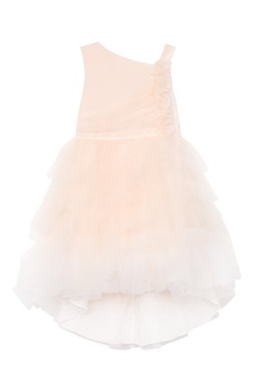 Детское хлопковое платье ALETTA розового цвета, арт. HTS21780/4A-8A | Фото 1