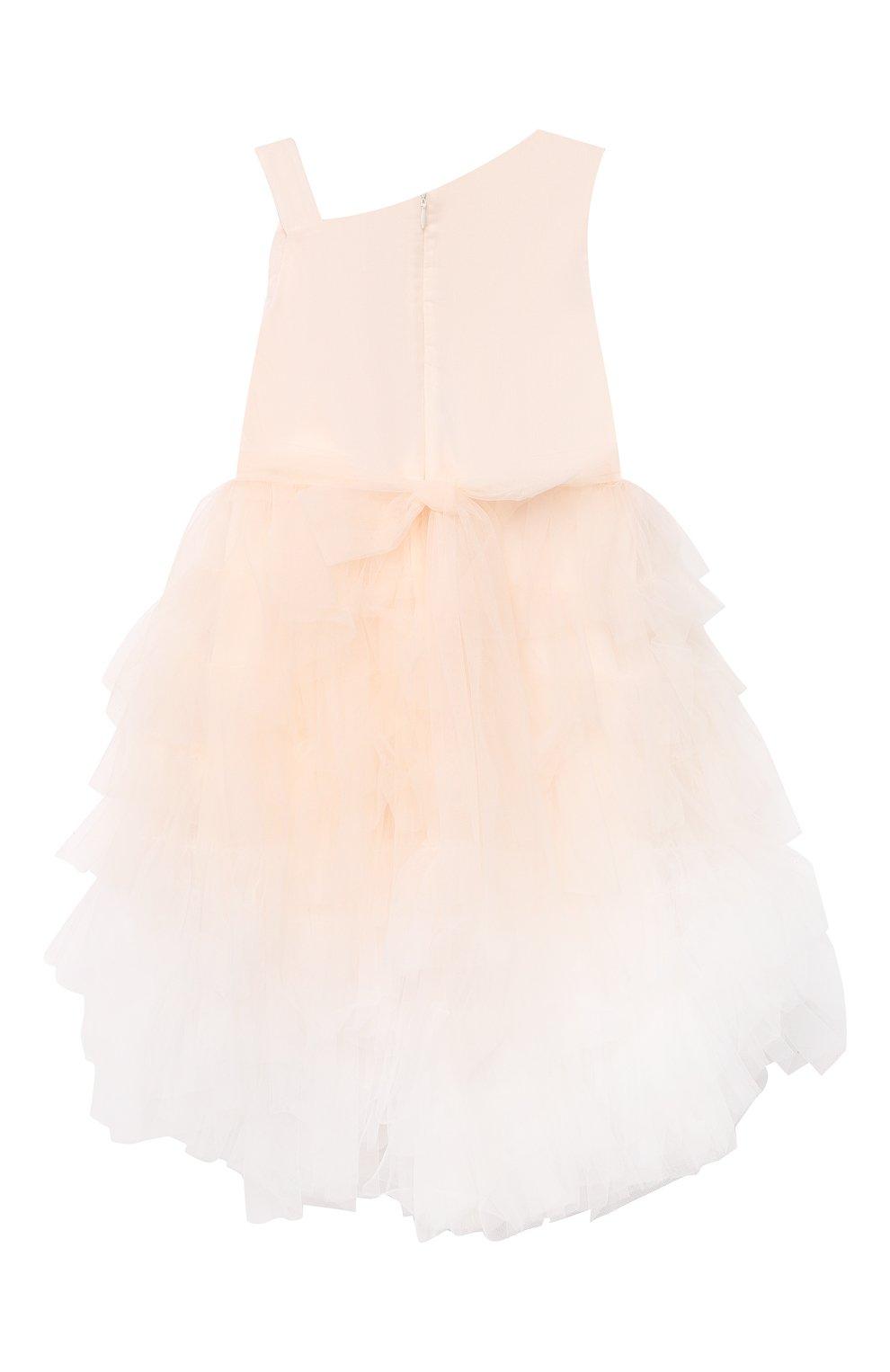 Детское хлопковое платье ALETTA розового цвета, арт. HTS21780/4A-8A   Фото 2