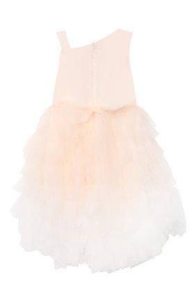 Детское хлопковое платье ALETTA розового цвета, арт. HTS21780/4A-8A | Фото 2