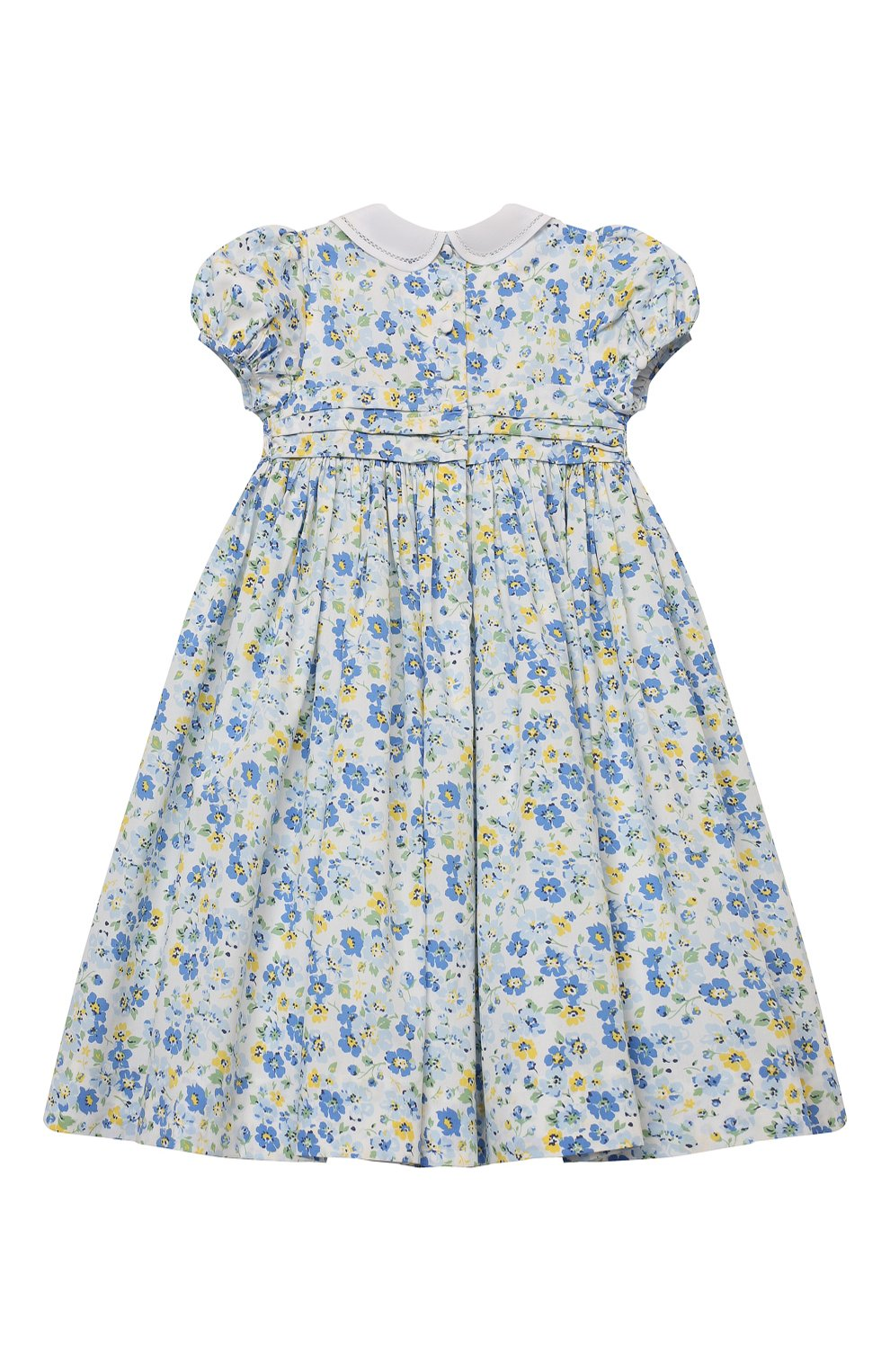 Детское хлопковое платье POLO RALPH LAUREN синего цвета, арт. 311835408 | Фото 2