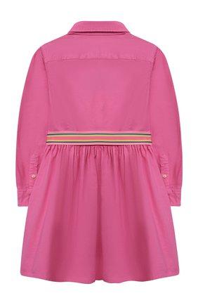 Детское хлопковое платье POLO RALPH LAUREN розового цвета, арт. 312835211 | Фото 2