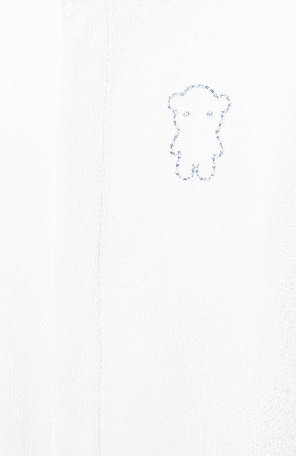 Детский комплект из трех предметов EMPORIO ARMANI голубого цвета, арт. 3KHV79/4JGCZ | Фото 4