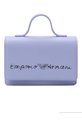 Детская кожаная сумка EMPORIO ARMANI сиреневого цвета, арт. 392537/1P560   Фото 1