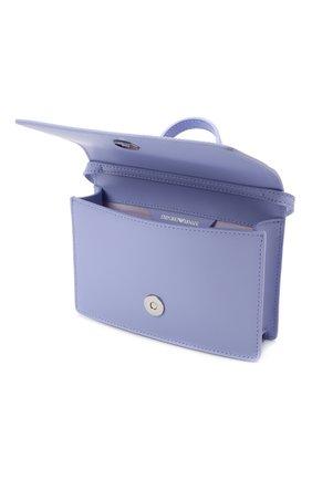 Детская кожаная сумка EMPORIO ARMANI сиреневого цвета, арт. 392537/1P560   Фото 3
