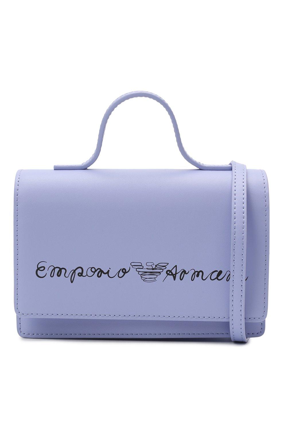 Детская кожаная сумка EMPORIO ARMANI сиреневого цвета, арт. 392537/1P560   Фото 4