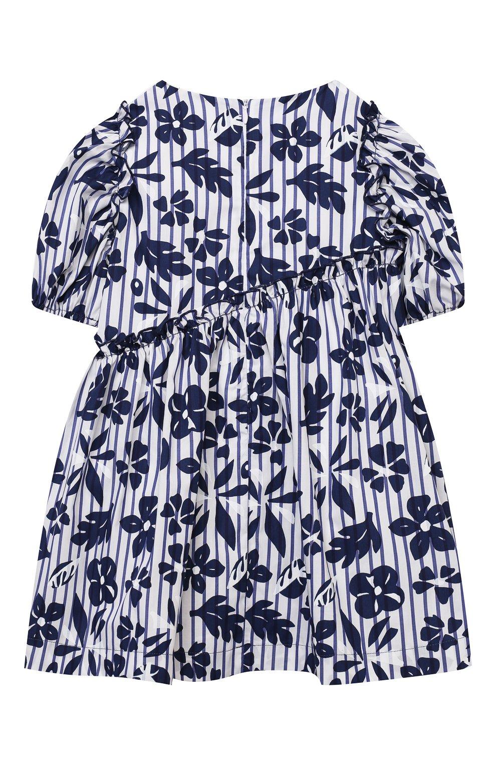 Детское хлопковое платье IL GUFO темно-синего цвета, арт. P21VM606C4070/2A-4A   Фото 2