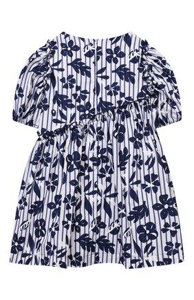 Детское хлопковое платье IL GUFO темно-синего цвета, арт. P21VM606C4070/2A-4A   Фото 2 (Материал внешний: Хлопок; Случай: Повседневный; Рукава: Короткие; Материал подклада: Хлопок; Девочки Кросс-КТ: Платье-одежда; Ростовка одежда: 18 мес   86 см, 24 мес   92 см, 3 года   98 см)